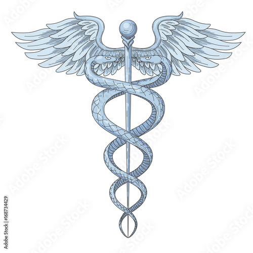 Cadeus Medical Medecine Pharmacy Doctor Ancient High Detailed Symbol