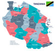 Tanzania - map and flag illustration