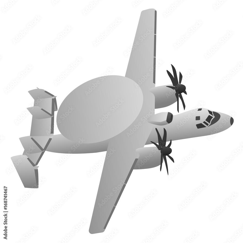 Photo  Military Early Warning Radar Aircraft Vector Illustration