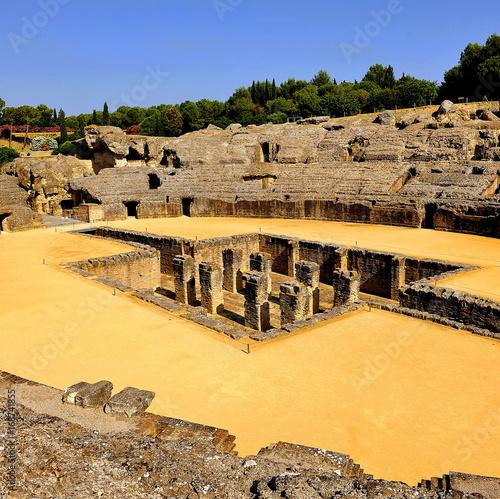 Roman Amphitheater of Italica in Seville, Spain Poster
