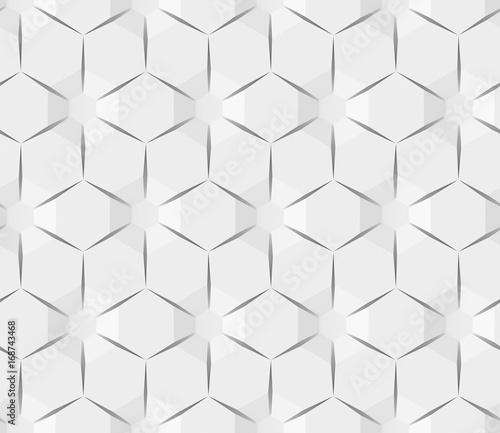 Fototapeta White abstract hexagonal geometric pattern