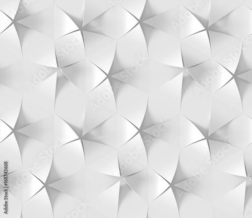 Obrazy wieloczęściowe białe abstrakcyjne sześciokąty