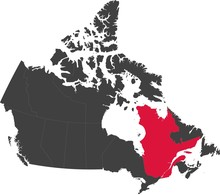 Map Of Canada Split Into Indiv...