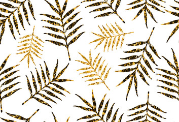 FototapetaSeamless pattern from the creative leaves