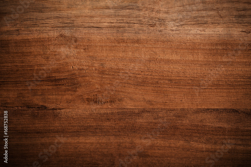 Poster Hout Old grunge dark textured wooden background,The surface of the old brown wood texture