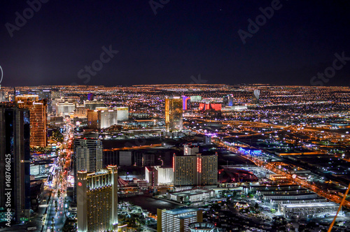 Landscape of Las Vegas city in Nevada
