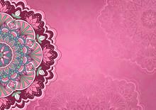 Horizontal Pink Background Wit...