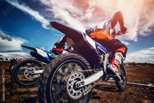 Photo  motorcross stunts bike.