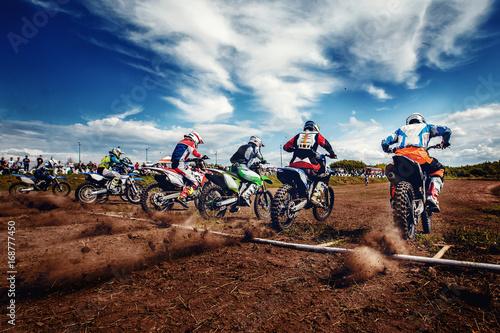 motorcross stunts bike. фототапет