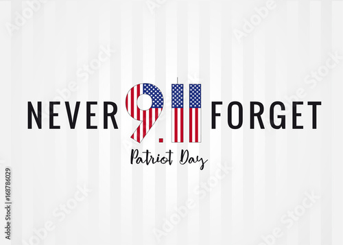 Tela  Patriot day USA Never forget 9/11 poster