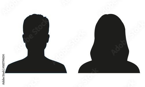 Leinwand Poster Man and woman silhouette