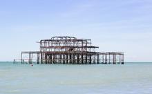 Derelict Pier Destroyed By Fire At Brighton UK
