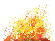 Color Background Of Paint Spla...