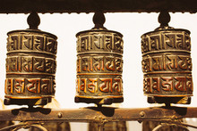 Tibetan Prayer Wheels, Kathman...