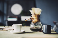 Filter Coffee Maker And A Cup