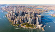 Leinwanddruck Bild - Aerial view of lower Manhattan New York City
