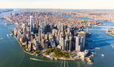 Fototapeta New York - Aerial view of lower Manhattan New York City