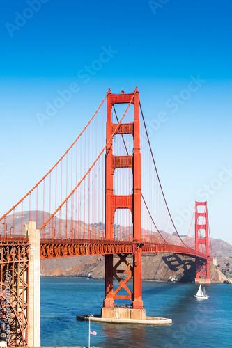 Golden Gate Bridge  between San Francisco Bay and the Pacific Ocean, San Francis Poster