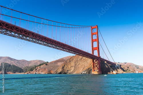 Golden Gate Bridge, suspension bridge   between San Francisco Bay and the Pacifi Poster