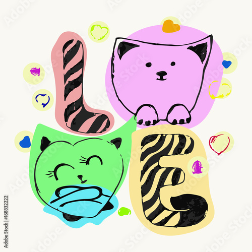 kolorowe-abstrakcyjne-koty