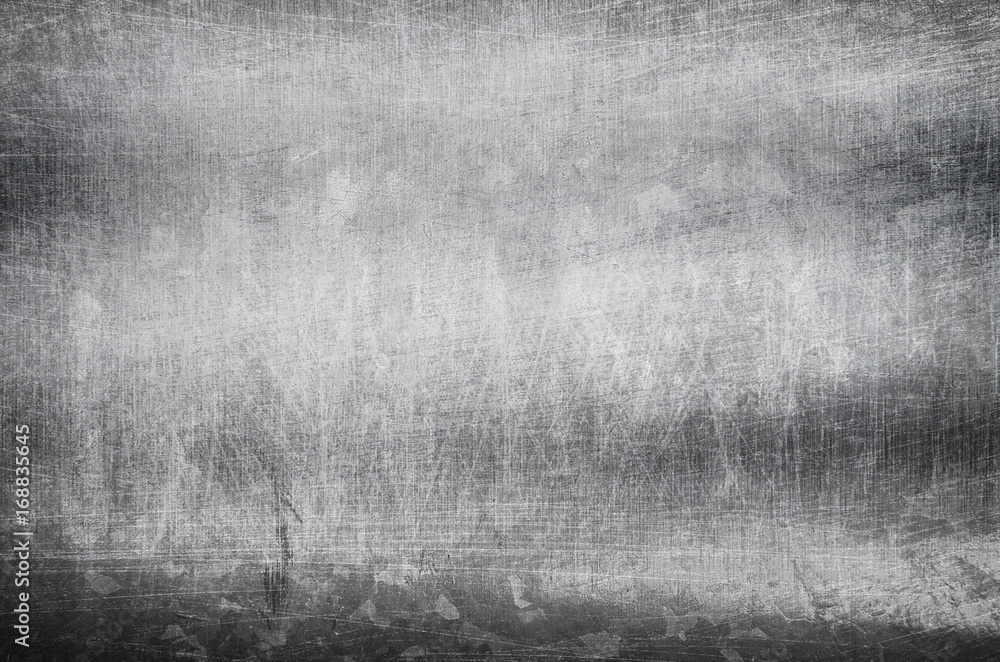 Fototapety, obrazy: scratched metal plate background