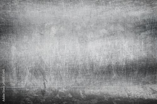 Fotografie, Obraz  scratched metal plate background