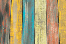 Colorful Vertical Wood Plank Background