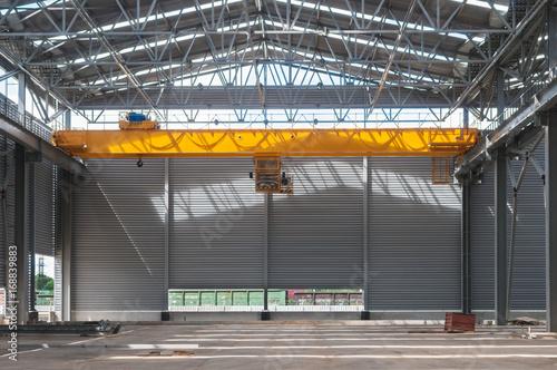 Factory warehouse overhead crane Wallpaper Mural