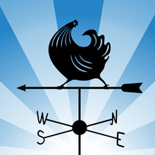 Weathervane - Running Rooster 4