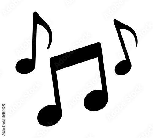 music notes song melody or tune flat vector icon for musical apps rh stock adobe com Music Notes Silhouette Vector Transparent Music Notes Vector