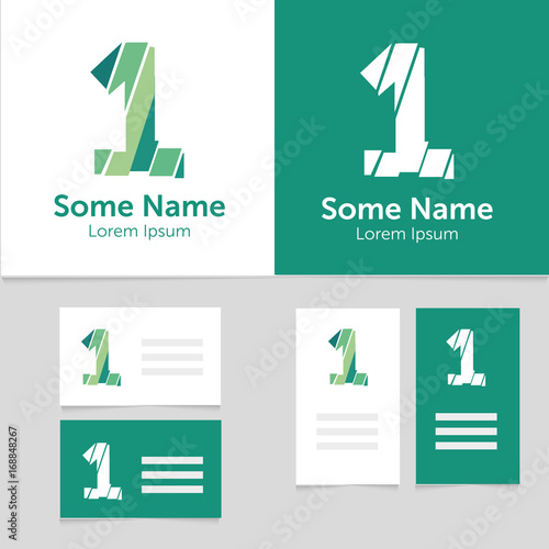 Editable Business Card Template With 1 Number Logoctor