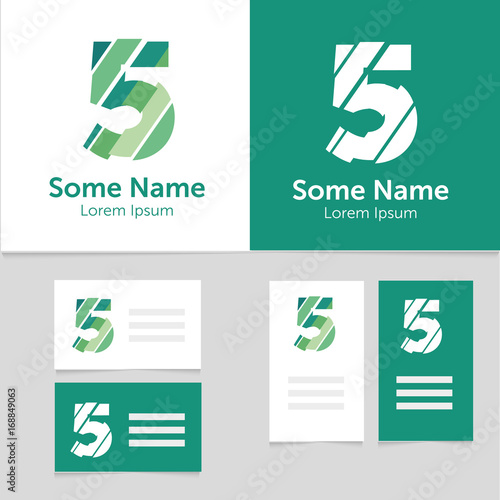 Editable Business Card Template With 5 Number Logoctor
