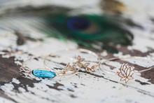 Golden Jewelry Bracelet With B...