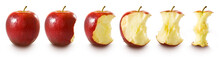 Isolated Image Of  Red Apple On White Background