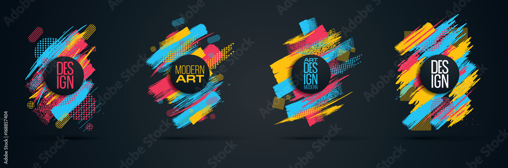 Fototapety, obrazy: Vector frame for text Modern Art graphics for hipsters