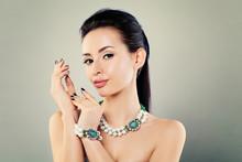 Pretty Woman With Jewelry, Fashion Portrait