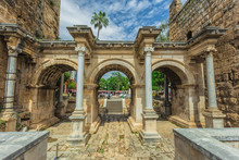 View Of Hadrian's Gate In Old ...