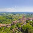 Toskana-Panorama, San Miniato im Chianti-Gebiet, Duomo di San Miniato