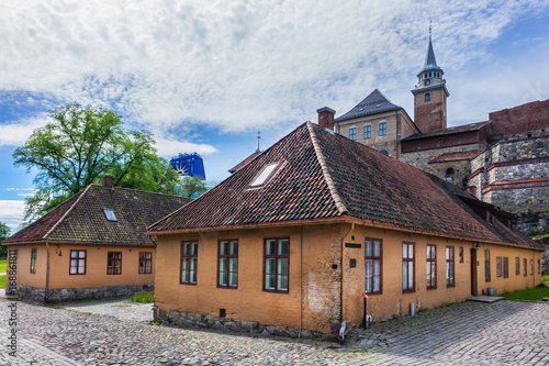 Photo  Medieval Akershus Castle (from 1299) and fortress in Oslo, Norway