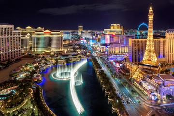 Fototapeta Las Vegas strip, Aerial view