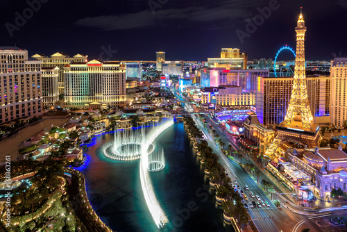Las Vegas strip, Aerial view Wallpaper Mural