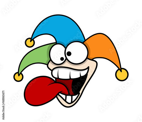 Laughing Cartoon Funny Joker Face Buy This Stock Vector