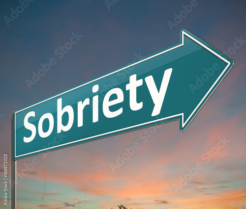 Sobriety sign concept. Canvas Print