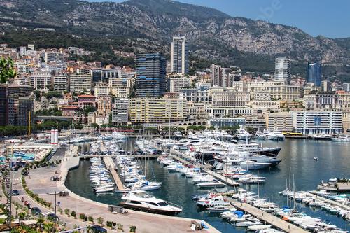 Aluminium Prints F1 View of La Condamine ward and Port Hercules in Monaco