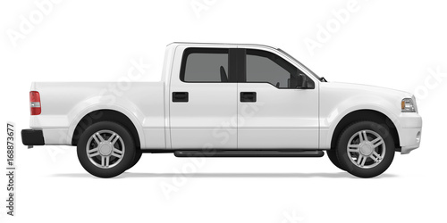 Obraz Pickup Truck Isolated - fototapety do salonu
