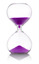 Hourglass With Violet Sand On ...