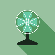 Vector Of Fan Electric With Lo...