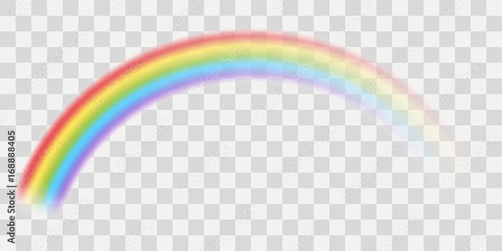 Fototapety, obrazy: Vector rainbow with transparent effect
