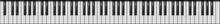 Piano 88 Keys. Realistic Style...