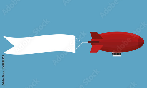 Airship with banner Canvas Print